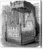 Victorian Bed, 1846 Canvas Print