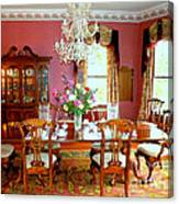 Victorian Dining Canvas Print