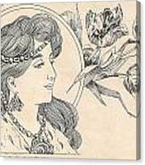 Victorian Lady - 1 Canvas Print