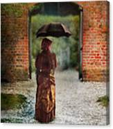 Victorian Lady By Brick Archway Canvas Print
