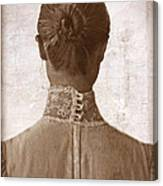 Victorian Lady From Behind Canvas Print