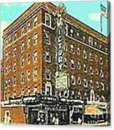 Victory Theatre And Hotel Sonntag In Evansville In 1920 Canvas Print