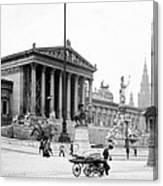 Vienna Austria - Parliament Building - C 1926 Canvas Print