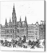 Vienna: City Hall, 1889 Canvas Print