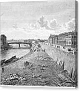 Vienna: Danube, 1821 Canvas Print