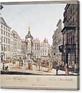 Vienna: Hohemarkt, 1793 Canvas Print