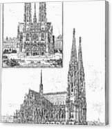 Vienna: Votive Church Canvas Print