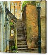 Viennese Side Street Canvas Print