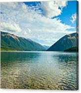 View Above A Beautiful Lake During Mid Day Canvas Print