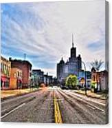View Down Broadway Into Downtown Buffalo Ny Canvas Print