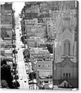 View Down Filbert St. Canvas Print