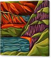 View From A Mountainside Canvas Print