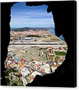 View From Inside Of The Gibraltar Rock Canvas Print