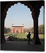 View From Inside The Red Fort With Tourist Canvas Print