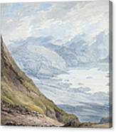 View From Skiddaw Over Derwentwater  Canvas Print