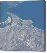 View From Space Of San Diego Canvas Print