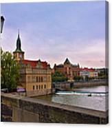 View From The Charles Bridge Revisited Canvas Print