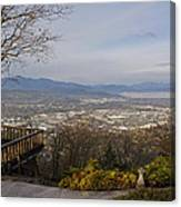 View From The Home On Top Of The Hill Canvas Print