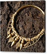 View Of A Golden Celtic Necklace During Excavation Canvas Print