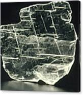 View Of A Sample Of Selenite, A Form Of Gypsum Canvas Print