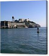 View Of Alcatraz From A Boat That Is Leaving The Island Canvas Print