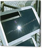 View Of An Amorphous Solar Cell Canvas Print