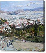 View Of Athens From Acropolis Canvas Print