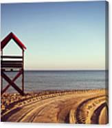 View Of Beach Canvas Print