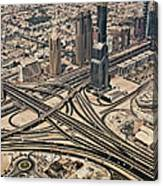 View Of Burj Khalifa Canvas Print