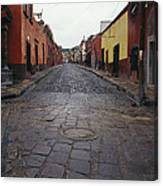 View Of Cobblestone Streets In San Canvas Print