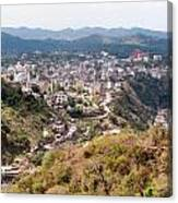 View Of Katra Township While On The Pilgrimage To The Vaishno Devi Shrine In Kashmir In India Canvas Print