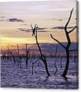 View Of Lake Kariba At Sunset Canvas Print