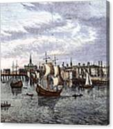 View Of London, 1550 Canvas Print
