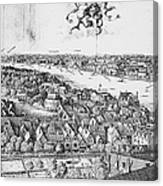 View Of London, 1647 Canvas Print