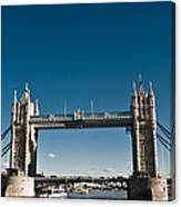 View Of London Bridge From The Thames Canvas Print