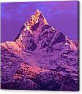 View Of Machhapuchhare At Sunrise From Canvas Print