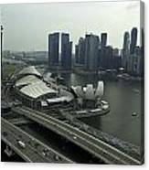 View Of Marina Bay Sands And Other Buildings From The Singapore  Canvas Print
