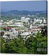 View Of Portland Oregon From Pittock Mansion  Canvas Print