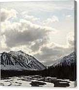 View Of Quill Creek In Kluane National Canvas Print