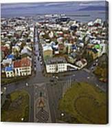 View Of Reykjavik Canvas Print