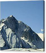 View Of Snow-covered Mountain Ridges Canvas Print
