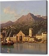 View Of Taormina Sicily Canvas Print