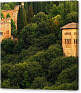 View Of The Alhambra In Spain Canvas Print