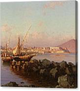 View Of The Bay Of Naples Canvas Print