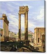 View Of The Roman Forum Canvas Print