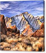 View Of The Sierras Canvas Print