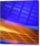 View Of Two Silicon Wafers With Their Chips Canvas Print
