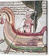 Viking Ship - 10th Century Canvas Print