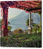 Villa Cipressi Pergola On Lake Como I Canvas Print