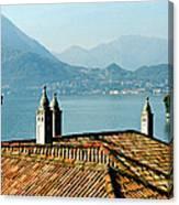 Villa Monastero Rooftop And Lake Como Canvas Print